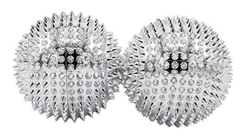 1 Paar magnetische Akupressurkugeln silber mittelgroß, Durchmesser: 47 mm
