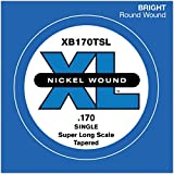 D'Addario XB170TSL Nickel Wound Bass Einzelsaite, Super Long Scale 170, Tapered