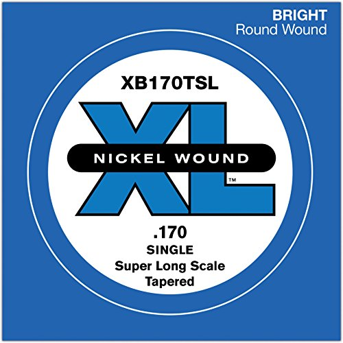 D'Addario XB170TSL Nickel Wound Bass Einzelsaite, Super Long Scale 170, Tapered (7-string E-bass)