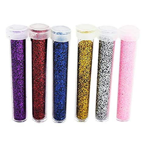 Tubes de paillettes Pots Craft ongles Décoration Nail Art DIY Fun poussière de fée Scrapbooking, Silver