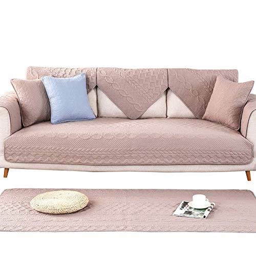 GFF Baumwolle Quilten Sofa Abdeckung, Möbel Protector Solide Couch Abdeckungen Multi-größe Sofa Handtuch Sofa Schonbezug Für Kinder Hund-Kaffee 90x90 cm (35x35 Zoll) -