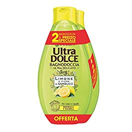 Garnier Ultra Dolce Bagnodoccia Tonificante Pelle Fresca e Morbida Limone e Fiore di Sambuco – Confezione da 2 X 500 ml