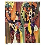 Gnzoe Polyester Duschvorhang Vier Damen Muster Design Bad Vorhang Stil 2 120x180CM