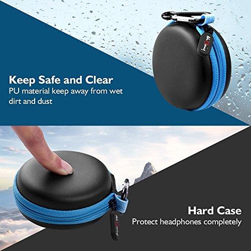 Mini Kopfhörer Tasche mit Schnalle, HiGoing Headset ohrhörer Schutztasche für In Ear Ohrhörer, MP3 Player, iPod Nano, Schlüssel, Lovely Macarons Aussehen (Innenmaß 6.8cm x 6.8cm x 4.0cm) - 5