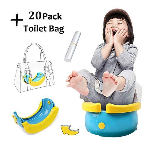 HAMKAW - Vasino Portatile da Viaggio per Bambini, Pieghevole, per Imparare a Usare Il WC, orinatoio per Bambini e Bambine, Perfetto per la Mamma