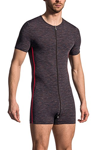 Olaf Benz RED1707 Coolbody Herren Body Sportbody mit 2-Wege-Zipper M Shadow (8030)