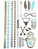 KLIMBIM Bling your Body mit Flash Metallic Tattoos Gold Schmuck Tattoo fŸr Kšrper Finger Arme viele Designs 05
