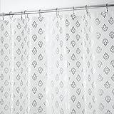 mDesign Dekorativer PVC-freier PEVA (3-Gauge) Duschvorhangfutter, 180 x 180 cm - Silberfarben