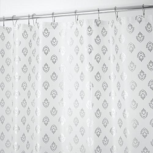 rideau-de-douche-decoratif-mdesign-sans-pvc-peva-3-gauge-180-x-180-cm-argent