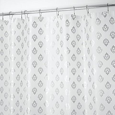 mDesign - Decorativo revestimiento interior de cortina de cubículo de ducha, sin PVC, de PEVA, espesor 3, 180 x 180 cm -