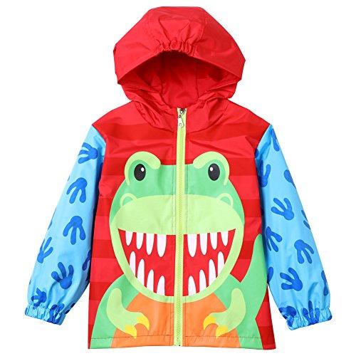 CADong Little Kid Girls Boys Cartoon Windproof Waterproof Hooded Coat Jacket Outwear Raincoat 1-6Y