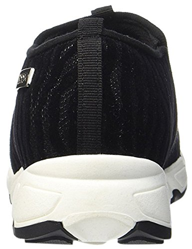 Guess Lety Active Printed Fabric donna, pelle scamosciata, sneaker slip on Nero