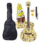 Spongebob SBACOFT Western Style Schwammkopf 4/4 Akustik Gitarren-Set