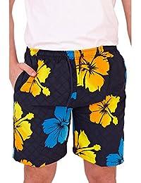 Gentlemens Maillots, culottes et slips de bain pour homme Motif Tonal Hibiscus Short de bain avec taille élastique, poches & & tailles différentes couleurs