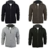Search : Mens Brave Soul Zone Zip Up Sherpa Lined Hooded Jacket