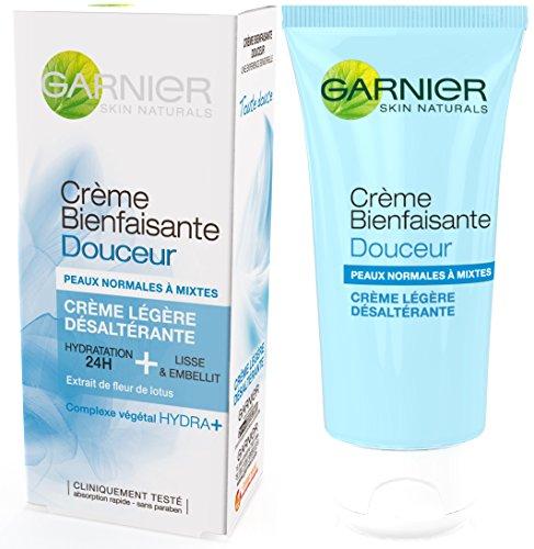 Garnier - SkinActive - Crème Bienfaisante - Hydratant visage - Crème légère 24h Peaux normales à mixtes