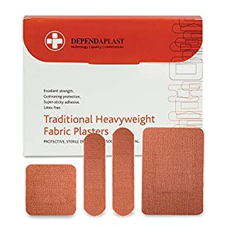 Reliance Medical Dependaplast Traditional Heavyweight Fabric Plasters, Assorted, Pack of 100