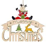 Togelei Home Decor Geschenk bemalte Elch Schneemann Weihnachten Alphabethaus Türschild Partei Anhänger Weihnachten hängenden Hausnummer Weihnachtsbaum Ornamente Hängende Dekoration