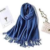ExpensiveScarf SchalKaschmir Männer und Frauen Winter Dicke warme zweifarbige Quasten, 190X65cm Schalldämpfer Schal Halstuch Muffel