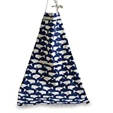 Aiklin Women's Cotton Apron Kitchen Cooking Baking Garden Chef Apron with Pockets