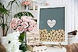 Gästebuch Herzen Drop Box Hochzeit Gästebuch Alternative Holz Drop in Herzen Sich, Buch Einzigartige Hochzeit Gäste Buch Rahmen Weiß zentralem Herz