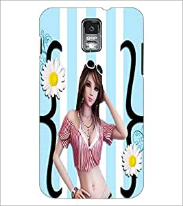 PrintDhaba Bold Girl D-4754 Back Case Cover for SAMSUNG GALAXY S5 (Multi-Coloured)