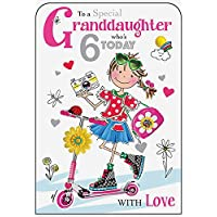 Granddaughter 6th Birthday Card