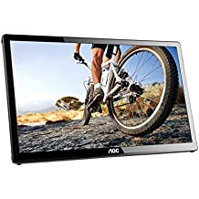 "AOC Monitores E1759FWU - Monitor de 17"" (resolución 1600 x 900 pixels, tecnología WLED, contraste 650:1, 10 ms, USB 3.0), color negro"