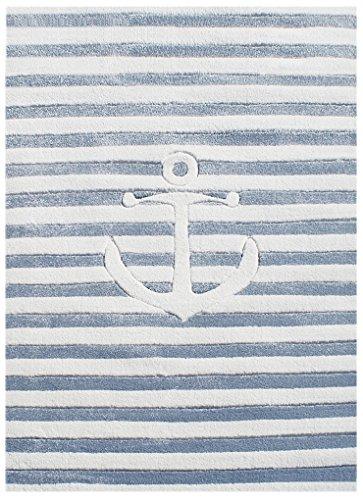 Livone Kinderteppich Happy Rugs AUF HOHER See 7 hellblau/Weiss 160 x 230 cm