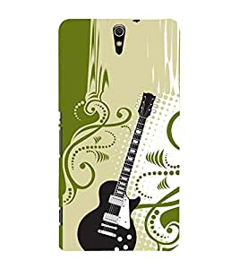 Floral Guitar 3D Hard Polycarbonate Designer Back Case Cover for Sony Xperia C5 Ultra Dual :: Sony Xperia C5 E5553 E5506 :: Sony Xperia C5 Ultra