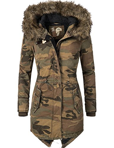 Khujo Damen Mantel Wintermantel Winterparka YM-Dorota Screen Gr. M