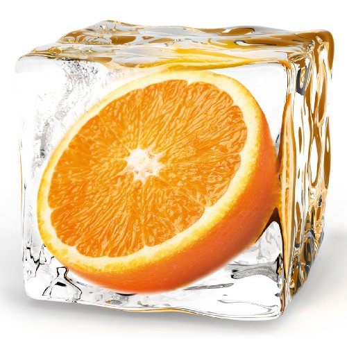 Eurographics DG-DT5074 Deco Glass, Glasbild, Orange Cube 30 x 30 - Glas-cube-bild