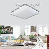 Hengda® 36W LED Deckenleuchte Wohnzimmer 230V Dimmbar Fernbedienung 2700-6500K Deckenlampe Modern (Dimmbar)