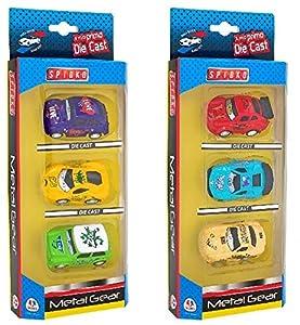 GLOBO- 3 Piezas Cars Pull Back Die Cast (39215), (1)