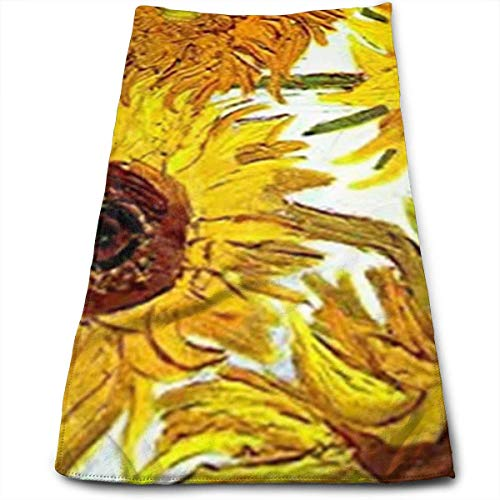 vintage cap Sunflowers Kitchen Towels - Dish Cloth - Machine Washable Cotton Kitchen Dishcloths,Dish Towel & Tea Towels for Drying,Cleaning,Cooking,Baking (12 X 27.5 Inch) Vintage Tea Towel