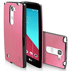 LG Leon Case, LG Power Case, Scudo [Vivid Shield Metallic] Protective LG CK Case Anti Shock / Slim Fit / 2mm Thick TPU Cover for LG Leon and for LG Power - Pink
