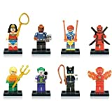 Générique 8pcs Fantaisie Avengers super-héros Batman Thor Hulk Mini Figurines...
