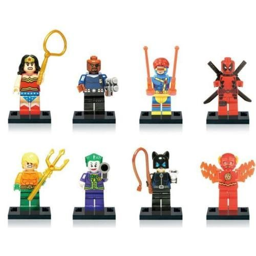 Unknown 8 figures of the Avengers SuperHeroes Batman Thor Hulk for Lego Toys C