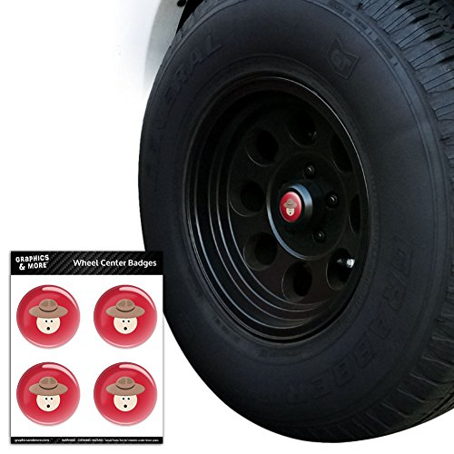 silly-canadian-mountie-tire-wheel-center-cap-resin-topped-badges-stickers-28-71cm-diameter