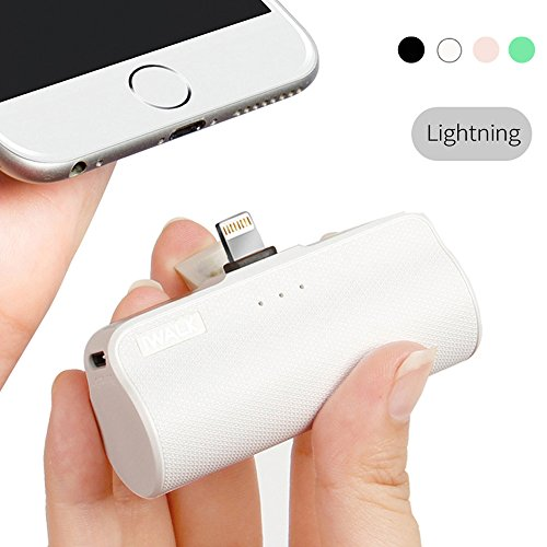 iWALK 3300mAh Móvil Portátil Batería Externa, Ultra-Ligera Power Pack Compacto Power Bank Cargador con Incorporado Lightning para Apple iPhone 5 6 7 8 Plus X SE y así
