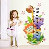R00078 Adesivo murale per bambini Wall Art - Metro animaletti con occhialoni - Misure 120x64 cm - Decorazione parete, adesivi per muro, carta da parati