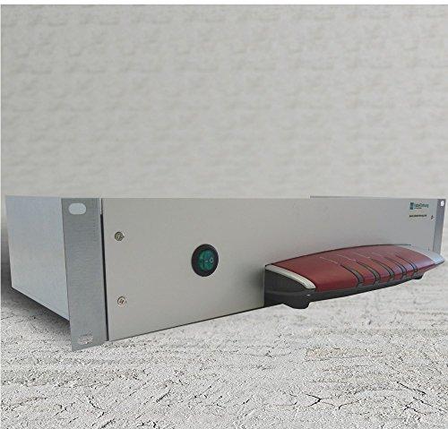 """Preisvergleich Produktbild KabelOrdnung 19"""" Einbaurahmen für AVM Fritz!Box mit Blende B für 3390, 7330, 7360, 7390, 7430"""
