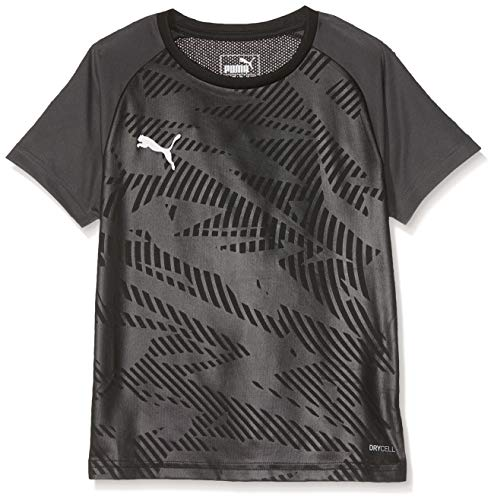 PUMA Kinder Cup Training Jersey Core Jr Trikot, Black-Asphalt, 152