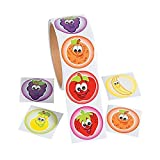 1 Roll ~ Fruit Stickers ~ 100 Paper 1 1/2 Round Stickers ~ New / Shrink-Wrapped by FX/OT