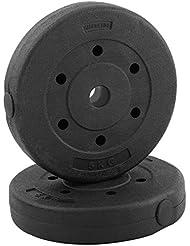 GOTOTOP – 2 Discos de Peso, 5 kg/pc, Pesado, Negro,