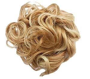 Chignon Coiffure Haute Boucle Frise Pour Ajouter Du Volume (Blonds Melanges B