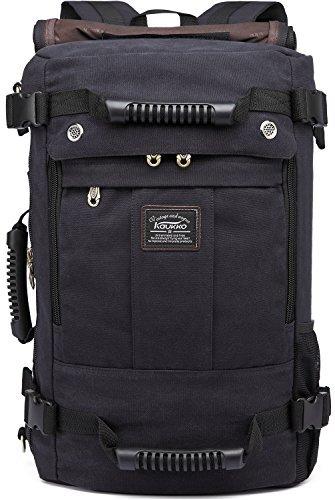 Kaukko resistente escursionismo zaino viaggio pelle leggero laptop zaini università scuola borsa di kaukko ,colore:nero
