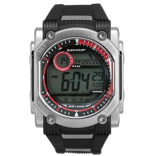 Dunlop-Dunlop digitale/red black quartz watch