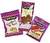 Jelly Belly Bertie Botts Bohnen (54 g) und Harry Potter Schokoladen Frosch (15 g) und Jelly Slugs (59 g)