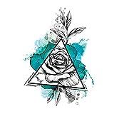 Brazo de la flor pegatinas para el tatuaje pegatinas impermeables para el tatuaje arte de la moda tinta del color flor de transferencia de agua pegatinas para el tatuaje 3pcs-6 148 * 210 MM